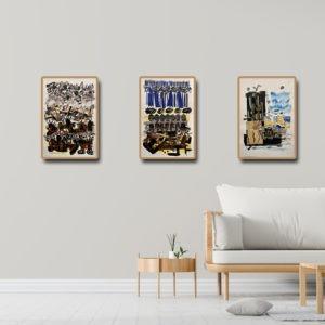collage sur papier et peinture de DANIELLE PRIJIKORSKI