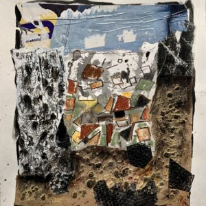 collage and mixed media on paper by Danielle Prijikorski on sale at galerie22 art contemporain