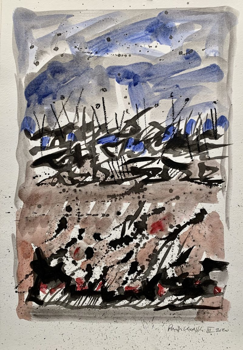 collage et technique mixte sur papier de Danielle Prijikorski en vente à la boutique galerie22 art contemporain