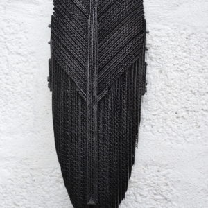 black cardboard wall sculpture by pierre riba available in the gallery's store22.