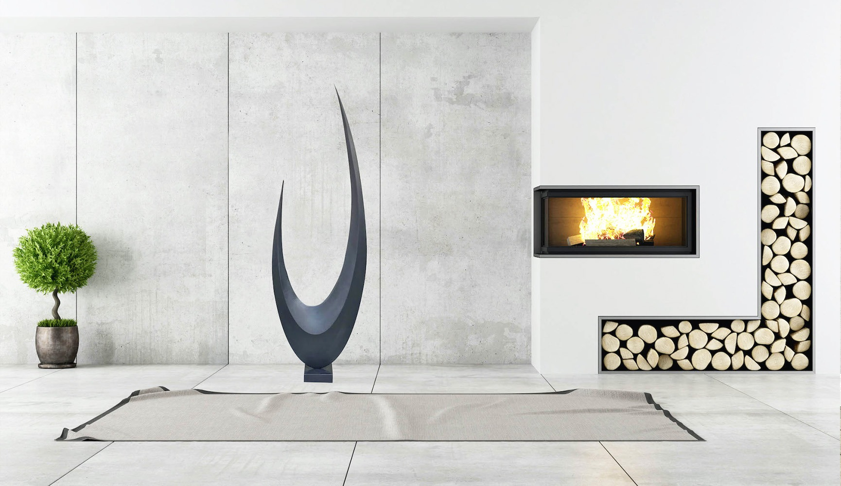 sculpture métal  de francis guerrier