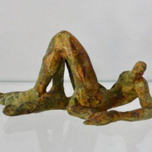 sculpture de bronze africain