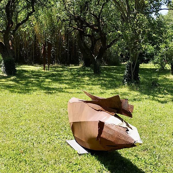 sculpture en acier corten pour jardin de julien allegre en vente dans la boutique en ligne de la galerie 22