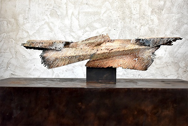 metal sculpture of Julien Allègre for sale in the shop of the gallery 22