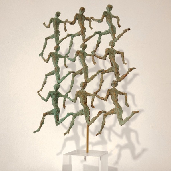 sculpture gille candelier a vendre 9 coureurs