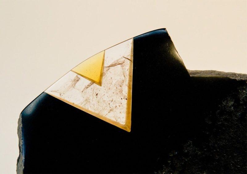 sculpture de Gérard Fournier vente jaune noire