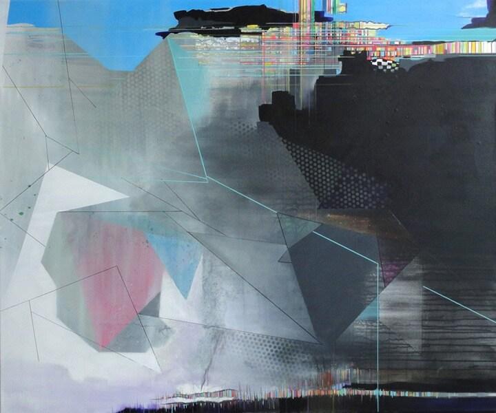 peinture de Frédérick Gagné resoudre geometrie