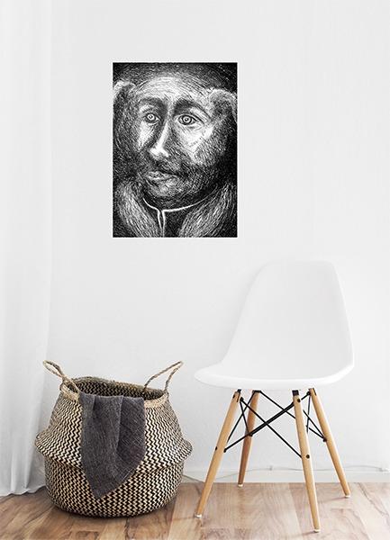 gravure de Monique Flosi en vente dans la boutique de la galerie 22 contemporain