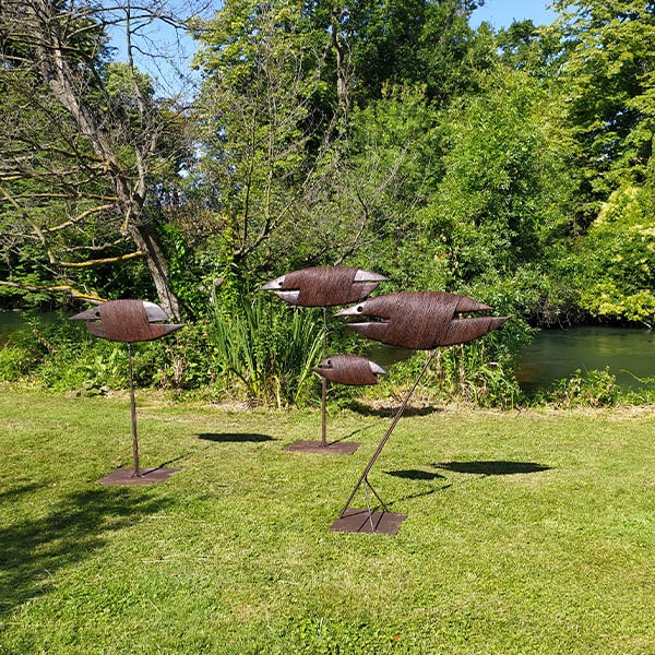 sculptures in wood and metal for the garden of pierre riba on sale in the online shop of gallery 22.