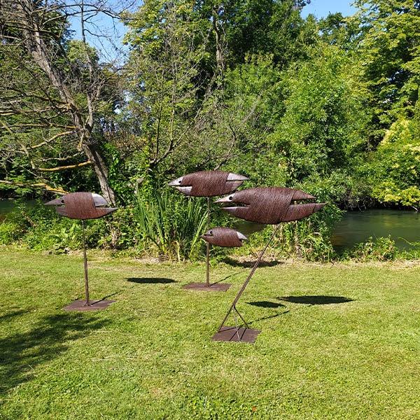 sculptures en bois et metal pour le jardin de pierre riba en vente dans la boutique en ligne de la galerie 22.