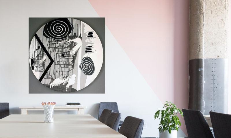 peinture forme ronde de Thoma Ryse