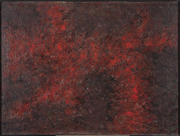 abstract painting, oil on canvas of jean-marie zazzi on sale in the online shop of gallery 22.