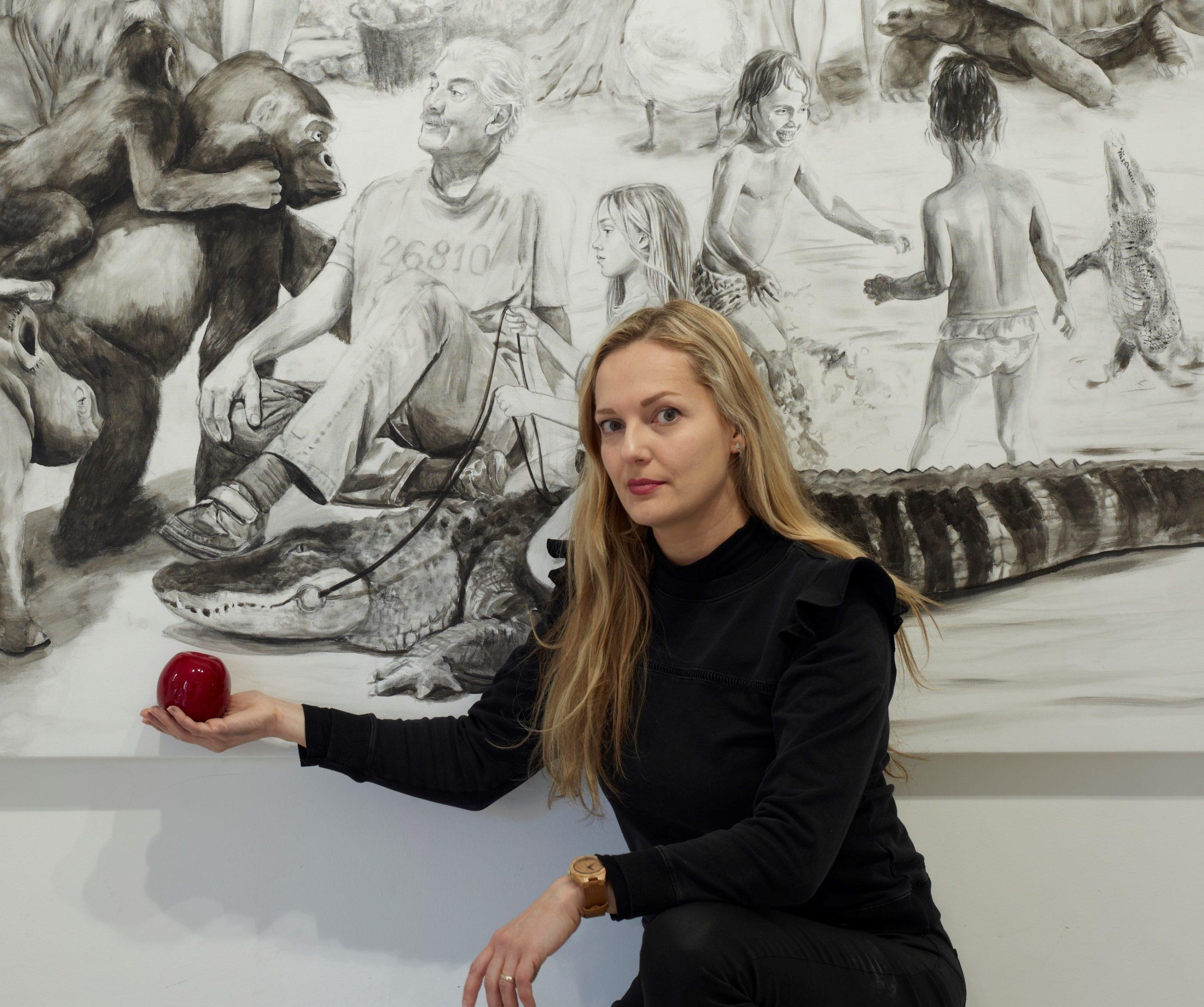 sveta marlier artiste peintre de la galerie 22