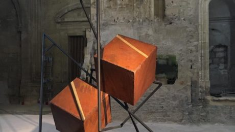 monumental sculpture in steel by sebastien zanello on sale in the store of the gallery 22