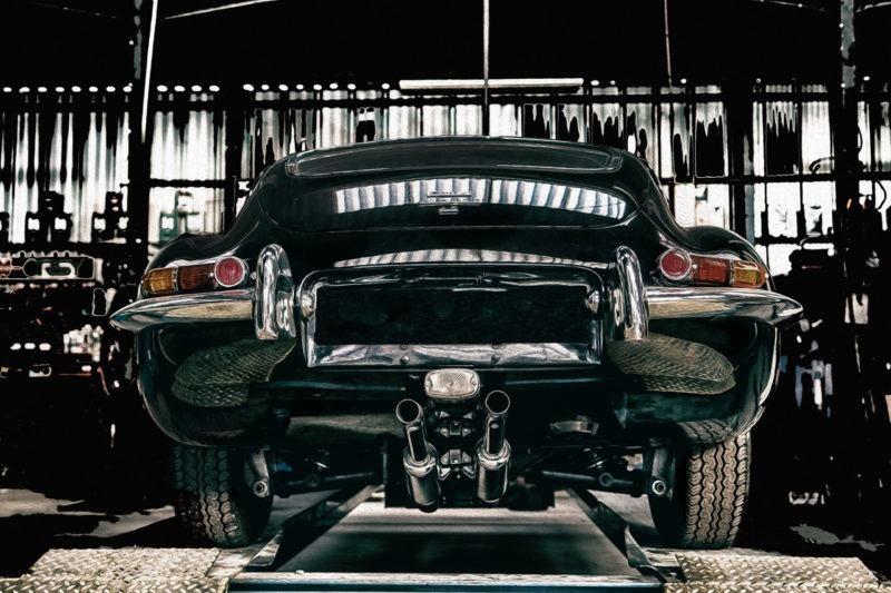 photographie automobile jaguar type e série 1 coupé tirage sur aluminium en vente dans le store de la galerie 22.