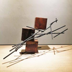 sculpture metal oxydé de sebastien zanello en vente dans la galerie en ligne de la la galerie 22