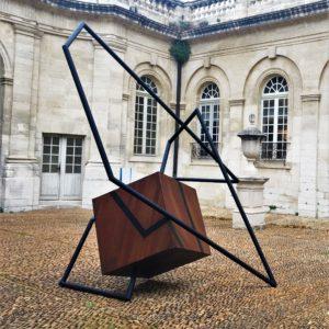 monumental sculpture in steel by sebastien zanello on sale in the gallery 22 store