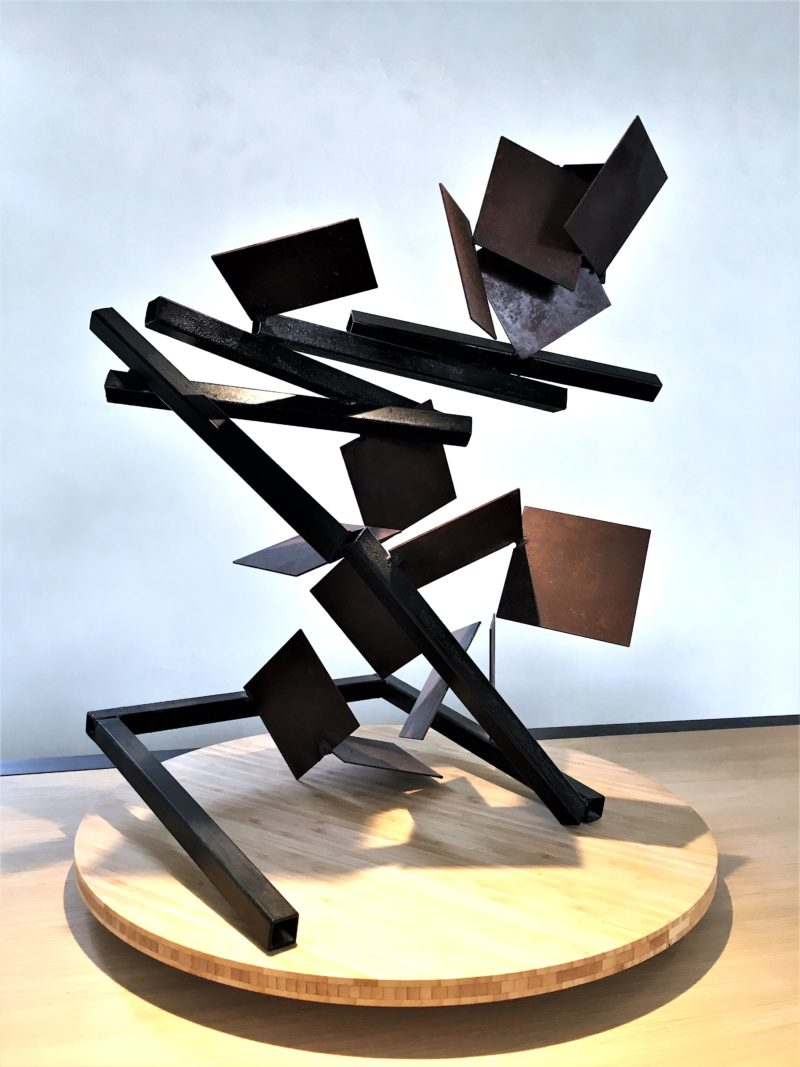 metal sculpture by sebastien zanello for sale in the online gallery of la galerie 22