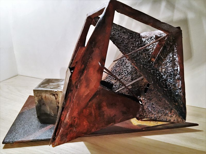 sculpture metal oxidized of sebastien zanello on sale in the online gallery of the gallery 22