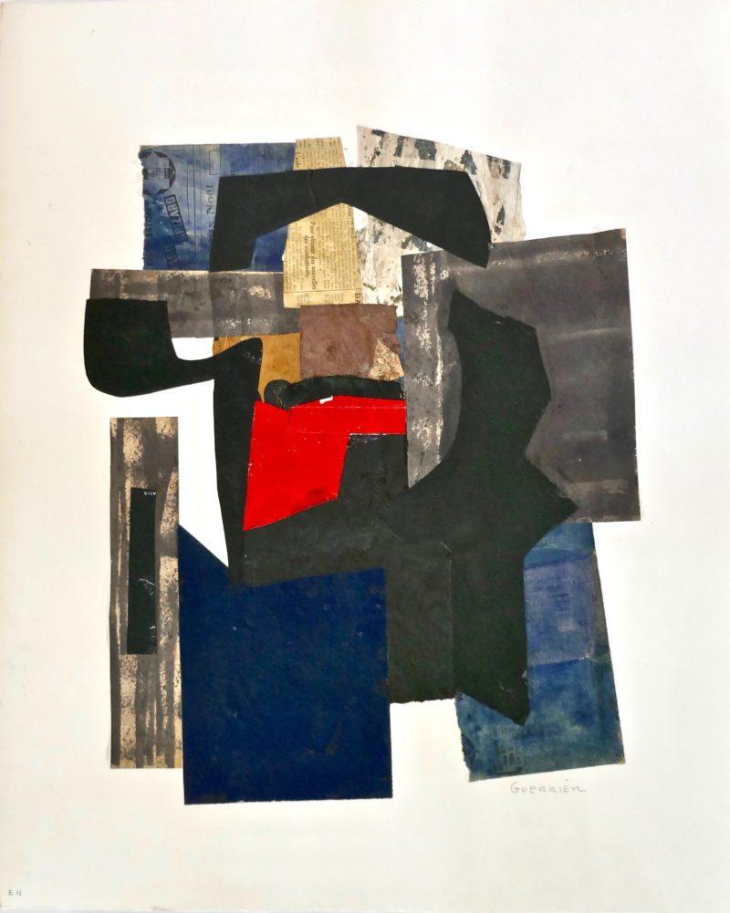 collage sur papier de raymond guerrier artiste peintre de la galerie en ligne galerie 22