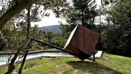 sculpture contemporaine monumentale en metal pour le jardin de Sébastien Zanello