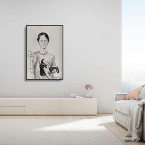 peinture acrylique sur papier de sveta marlier en vente dans le store de la galerie22