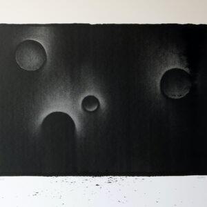 gravure contemporaine à l'encre de chine sur papier grand format de thomas de vuillefroy