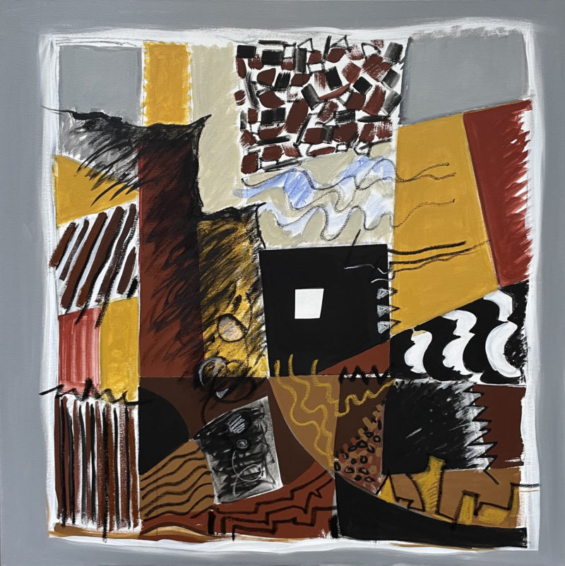 peinture abstraite grise et brune de Danielle Prijikorski