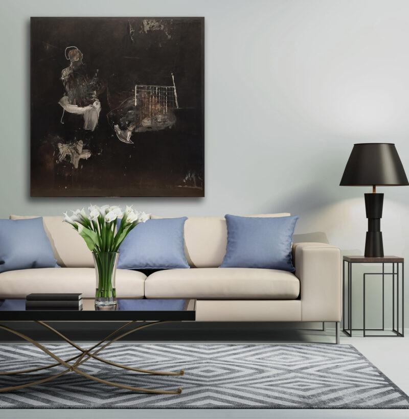peinture acrylique contemporaine etoil