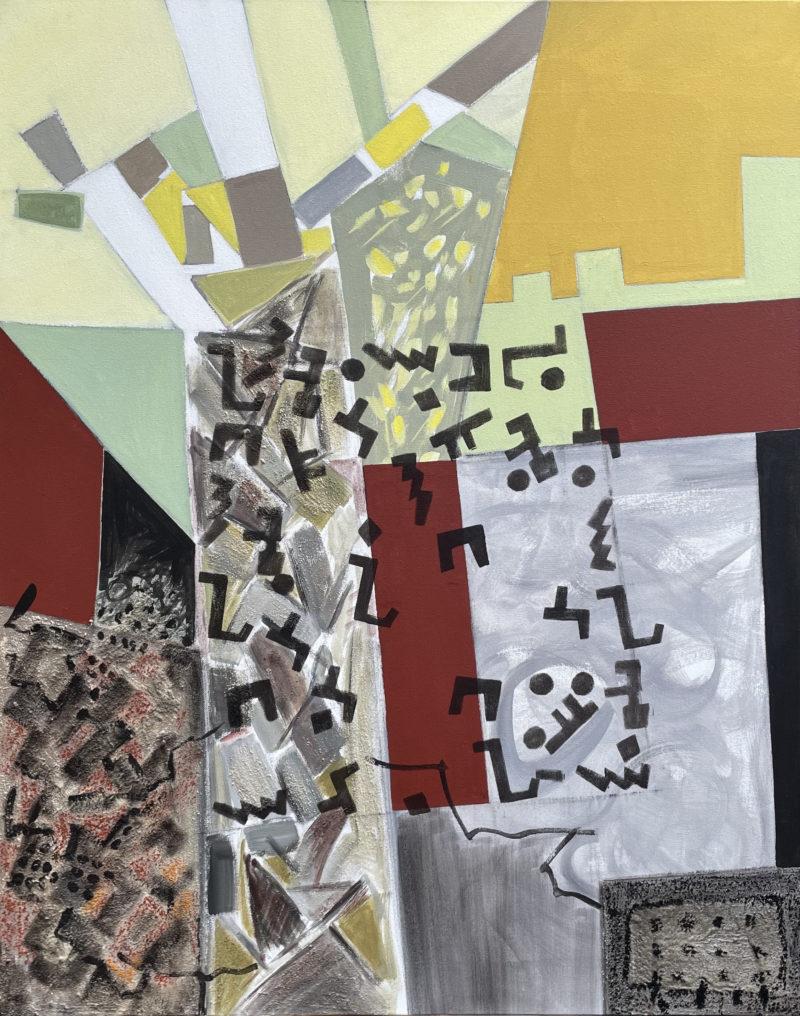 peinture acrylique sur toile couleur terre de danielle prijikorski en vente dans le store de la galerie 22