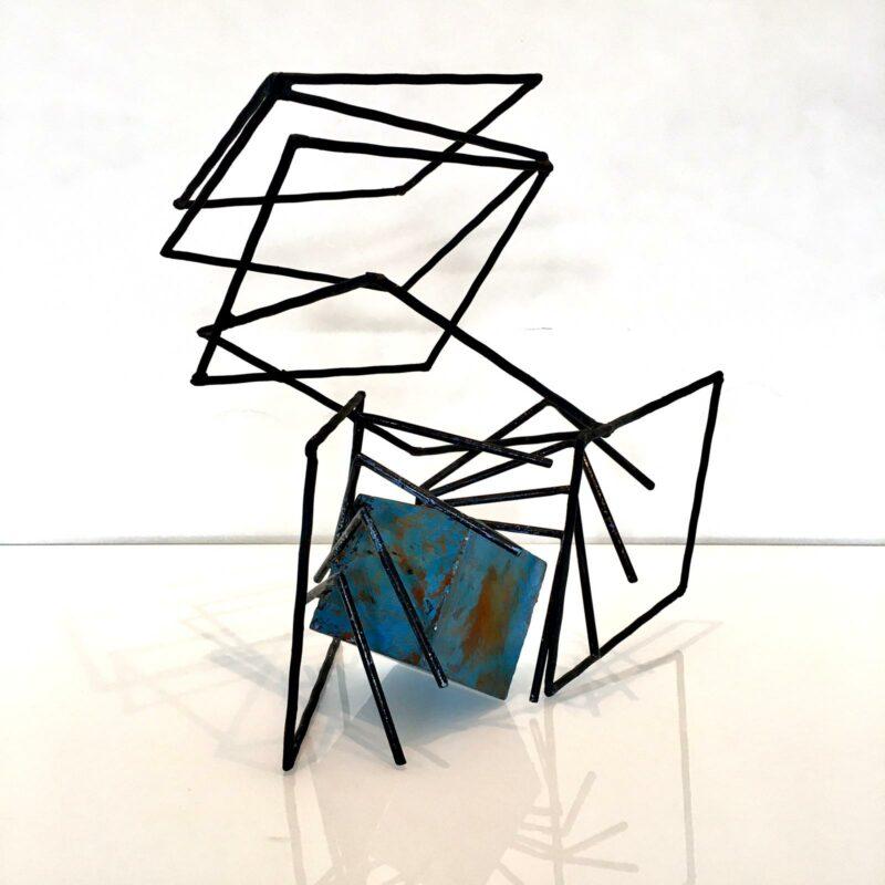 sculpture en metal de sebastien zanello en vente dans le store de la galerie 22