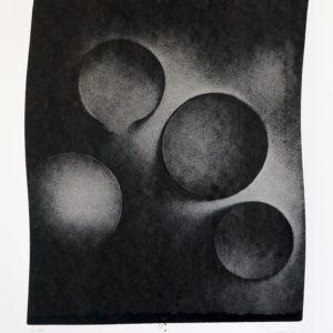 encre de chine sur papier noir et blanc de thomas de vuillefroy
