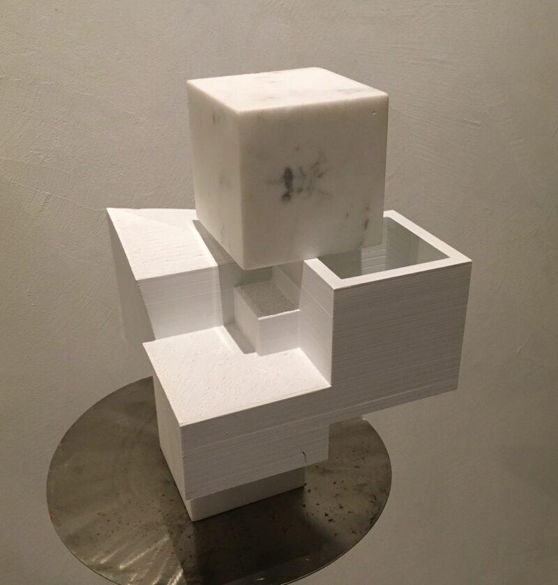sculpture en marbre de carrare de sebastien zanello
